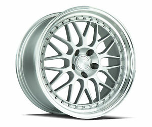 18x9 5 Aodhan Ah02 5x120 35 Silver Machined Lip Wheels Set 4