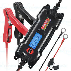 Mictuning 6 12v Smart Car Motorbike Float Battery Charger Maintainer Lcd Digital