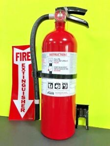 Fire Extinguisher Kidde 5 5lb Pro 3a 40b c W Bracket Locator Sign free Ship