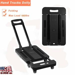 Adjusable 440lb Hand Truck Dolly Collapsible Cart Luggage Trolley