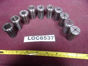 Da180 Collets Kennametal Erickson Used Lot Of 10 Loc6537