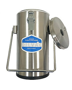 Scilogex Ss222 2ltr Stainless Steel Cased Dewar Flask With Lidclips And Handle