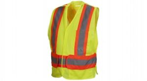 Pyramex Rca27 Class 2 Safety Vest Lime Or Orange Adjustable M 5xl Lot Of 5
