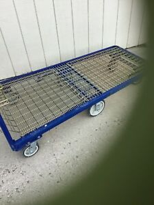 Utility Cart Heavy Duty Platform Trucks Blue In Color Steel