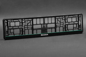 2 X Skoda Euro License Number Plate Frame Holder