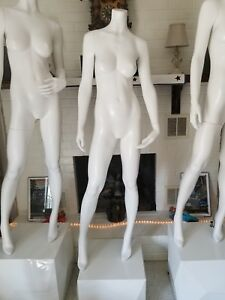 Full Body Mannequin And Sturdy Metal Base From High End Department Store