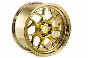 18x9 5 Aodhan Ds01 5x100 35 Gold Vacuum Rims Fit Subaru Forester Outback Legacy