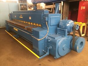 Wysong 7 144 12 Ft X 3 16 Mechanical Power Shear ontario Calif