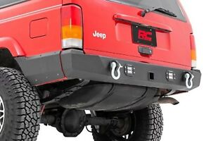 Rear Led Bumper W Lower Quarter Panel Armor For Jeep Cherokee Xj 97 01