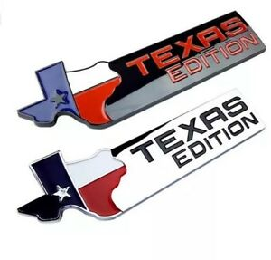 Texas Edition Metal Emblem Badge For Chevy Ford Dodge Tailgate Stick On