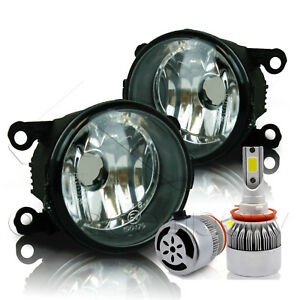 For 2017 Jeep Compass Replacement Fog Lights W C6 Led Bulbs Clear