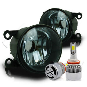 For 2011 2014 Acura Tsx Replacement Fog Lights W C6 Led Bulbs Smoke