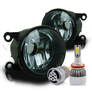 For 2005 2015 Ford Mustang Replacement Fog Lights W C6 Led Bulbs Smoke