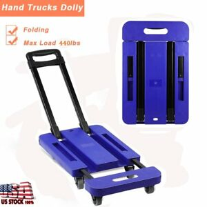 Portable 440lb Hand Truck Dolly Collapsible Cart Luggage Trolley