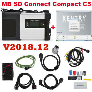 Mb Sd Connect Compact 5 Star Diagnostic Tool For Cars And Trucks V2018 12 Hdd