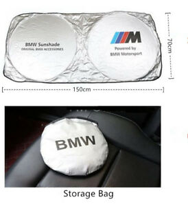 Universal Car Windshield Sun Shade Blocks Uv Rays Foldable Sun Visor For Bmw