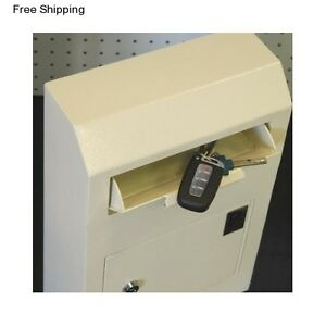 Security Drop Box Locking Depository Mail Slot Key Safe Wall Money Cash Deposit