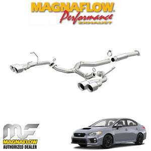 Magnaflow 3 Cat Back Dual Exhaust Fits 2015 2018 Subaru Wrx Sti 2 5l Turbo