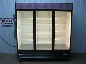 Beverage Air 3 Three Glass Door Merchandiser Refrigerator Display Cooler Mt72
