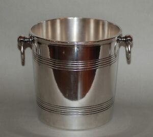 Vintage Neoclassical Ercuis Silver Plated Champagne Wine Ice Bucket Cooler