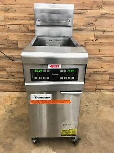 2011 Frymaster Fph155 Hi efficiency 50lb Gas Fryer W Built in Filtration
