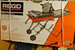 Ridgid R4092 Electric Wet Tile Saw With Laser Guide And Stand new