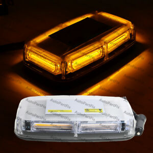 Cob Amber Magnetic Base Construction Mini Bar Roof Top Warn Flash Strobe Light