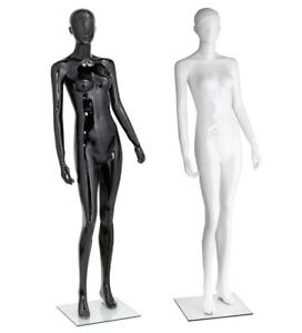 Female Mannequin High End Fiberglass Realistic Display Head Full Body W Base