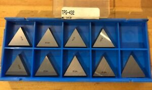 Valenite Carbide Inserts Tpg 432 Vc2 Qty 9 New