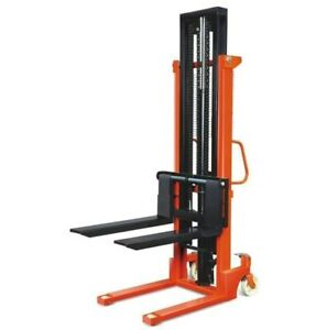 Manual Forklift Stacker 2200lbs Capacity 63 Lift Height 8 8 28 7 Pallet Jack