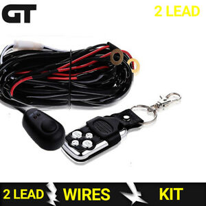 2 Lead Off Road Fog Lights Wiring Harness Kit Wirless Remote For Polaris Jeep