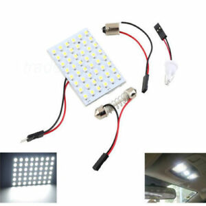 48 Smd Panel Led Car T10 Ba9s Festoon Dome Interior Decor Lamp Bulb Light Us
