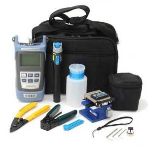 9 In 1 Fiber Optic Ftth Tool Kit With Fc 6s Fiber Cleaver Power Visible Meter