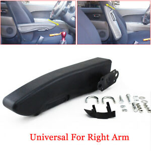 Universal Car Right Side Armrest Arm Console Support Custom Clamp drilling Grade