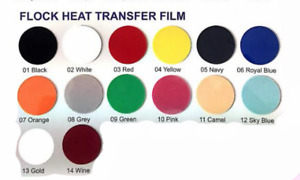 14 Colors Easy Weed Flock Heat Transfer Vinyl 20 X 12