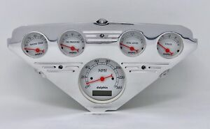 1955 1956 1957 1958 1959 Chevy Truck 5 Gauge Dash Cluster White