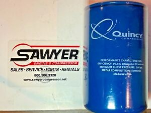 Quincy Air Compressor Oil Cartridge Part 2013400282 Filter Spin On 300 Psi