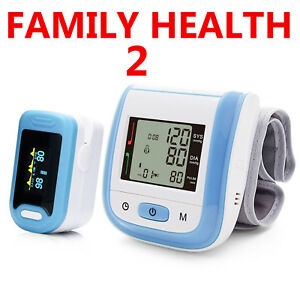 Pack Finger Pulse Oximeter One Wrist Blood Pressure Monitor