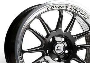 Cosmis Racing Xt206r 18x9 33 5x114 3 Black Concave set Of 4