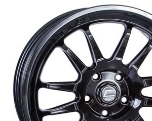Cosmis Racing Xt206r 18x9 33 5x100 Full Gloss Black set Of 4