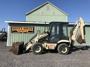2002 Ingersoll Rand Bl470 4x4 Loader Backhoe Kubota Diesel Enclosed Cheap Ship