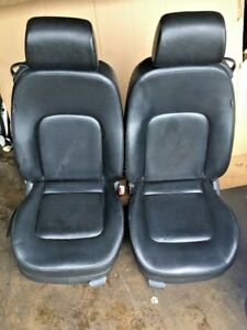 2006 Vw Beetle Front Seat Pair Right Left Leather Black Oem