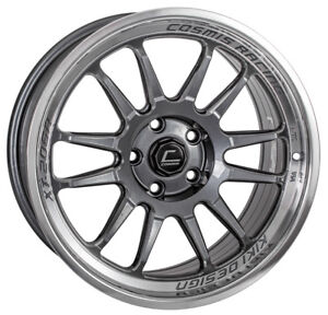 Cosmis Racing Xt206r 17x8 30 5x100 Gunmetal W Machined Lip set Of 4