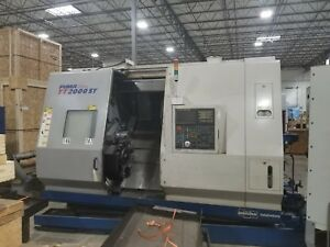 Used Daewoo Puma Tt 2000sy Cnc Turning Center Lathe Twin Spindle Doosan Live 05