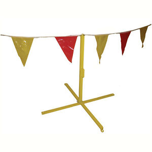 105 Ft Osha Yellow And Red Pennants Perimeter Markers 3 Pack osha Approved