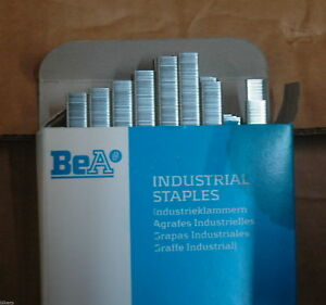Full Case Of Bea Industrial 72 14 22 Gauge 9 16 Staples 116 500 Staples