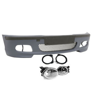 4dr M tech Ii Style Front Bumper W Clear Fog Lights For 99 06 Bmw E46 3 series