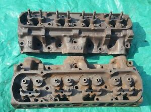 Oem 1973 Pontiac 455 4x Cylinder Heads Pair Matching Date H022 Mag Ok