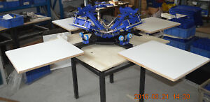 Screen Printing Machine Commercial4color 4station Right Angle Plate Screen Press