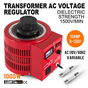 Variac Transformer Variable Ac Voltage Regulator Metered 10a 1000w 0 130v Ac Us